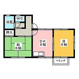 コーポS・T[2階]の間取り