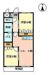 ルーラルI[1階]の間取り