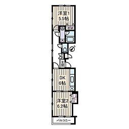 パレドール・タケダ[3階]の間取り