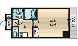 ASTIA西中島2 5階1Kの間取り