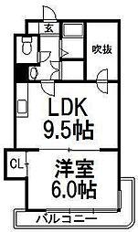NOA医大[4階]の間取り