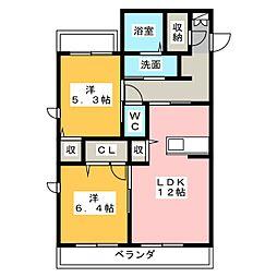 LAPIS LAZULI[1階]の間取り