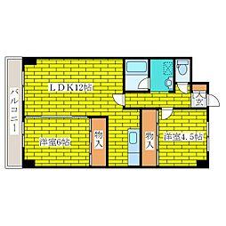 ジオンコート清田[3階]の間取り