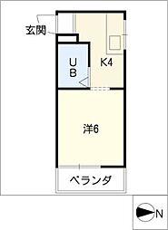 西富マンション[2階]の間取り