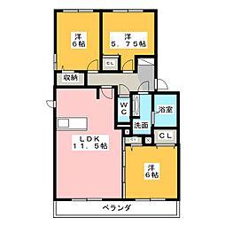 ハロウェル B棟[2階]の間取り
