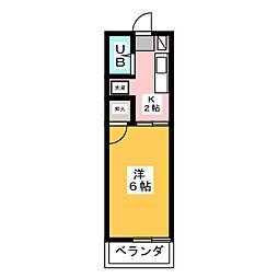 愛新コーポ C[2階]の間取り
