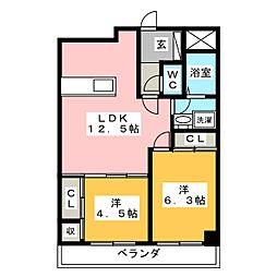 シェラトン赤塚[1階]の間取り