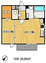 兵庫県神戸市兵庫区中道通8丁目の賃貸アパートの間取り