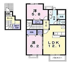 ルミナス-C[2階]の間取り