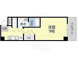 おおさか東線 JR野江駅 徒歩9分の賃貸マンション 5階1Kの間取り