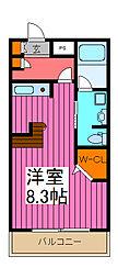 ZCO並木ビル2ND[5階]の間取り