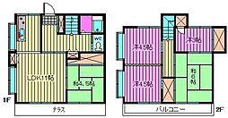 [テラスハウス] 埼玉県さいたま市南区太田窪2丁目 の賃貸【埼玉県 / さいたま市南区】の間取り