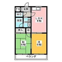 ハウスコンフォート[2階]の間取り