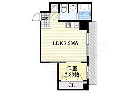 LEGIAN 2階1LDKの間取り