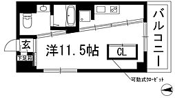 大阪府池田市西本町の賃貸マンションの間取り