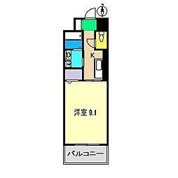 ニューカレント[2階]の間取り