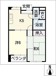 桜マンションB棟[2階]の間取り