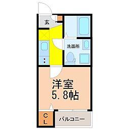 仮称)山田町三丁目デザイナーズ(ヤマダチョウサンチョウメデザ[3階]の間取り