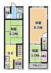 [テラスハウス] 大阪府門真市寿町 の賃貸【/】の間取り