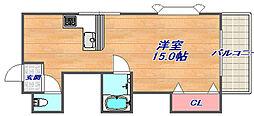 兵庫県神戸市灘区上野通5丁目の賃貸マンションの間取り