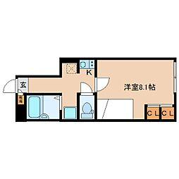 JR関西本線 大和小泉駅 徒歩10分の賃貸アパート 1階1Kの間取り