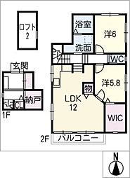 ミキホーム B棟[2階]の間取り