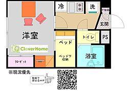 小田急小田原線 玉川学園前駅 徒歩28分の賃貸アパート 2階1Kの間取り