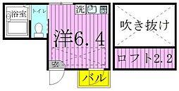 エルプレミア竹ノ塚[2階]の間取り