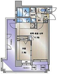 アクタス天神セントラルタワー[14階]の間取り