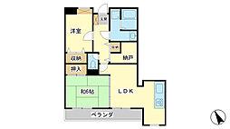 ドール辻井[4階]の間取り