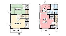[テラスハウス] 兵庫県西宮市門戸東町 の賃貸【兵庫県 / 西宮市】の間取り
