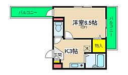 サンユーマンション[2階]の間取り