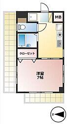 高橋マンションII[4階]の間取り