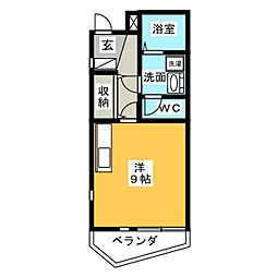 AKIZUKIハイツ[3階]の間取り