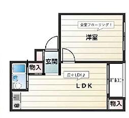 ラムール新在家[3階]の間取り