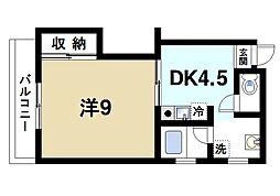奈良県奈良市大宮町2丁目の賃貸マンションの間取り