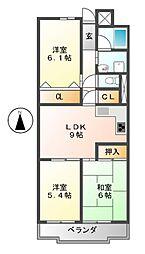 丸の内パークマンション[10階]の間取り