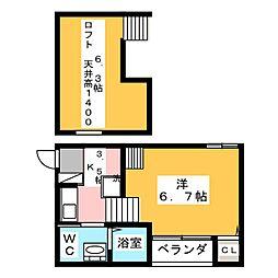 BW flat[2階]の間取り