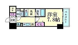 名古屋市営東山線 新栄町駅 徒歩8分の賃貸マンション 7階1Kの間取り