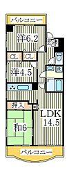 URBAN PARK柏[6階]の間取り