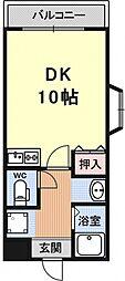 ドエル竹鼻[306号室号室]の間取り