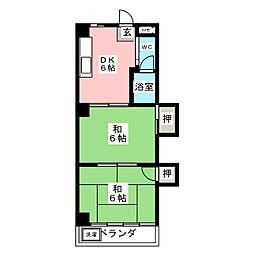 メゾン松下[2階]の間取り