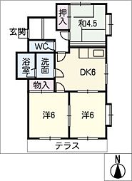 葵2号館[1階]の間取り