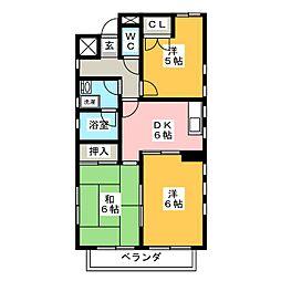 アナザースクウェア[3階]の間取り