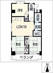 平輿マンション[5階]の間取り