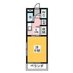 ハイツシンフォニーII[1階]の間取り