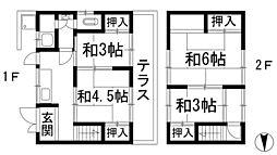[テラスハウス] 大阪府池田市神田2丁目 の賃貸【/】の間取り