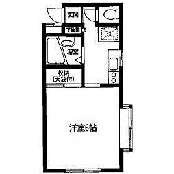 神奈川県相模原市南区相模大野5の賃貸マンションの間取り