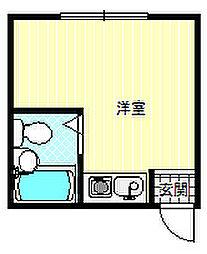 728湯里ハイツ[6階]の間取り