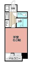 ピュアドーム天神アネックス(208)[2階]の間取り